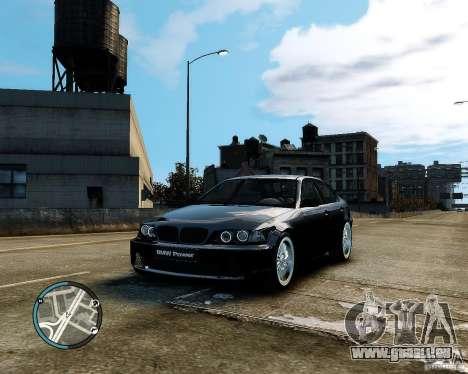 BMW 320i E46 v1.0 pour GTA 4 est un côté