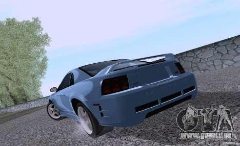 Ford Mustang SVT Cobra 2003 White wheels pour GTA San Andreas vue de droite