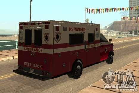 Ambulance de GTA 4 pour GTA San Andreas vue de droite