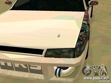 New Sultan v1.0 pour GTA San Andreas sur la vue arrière gauche