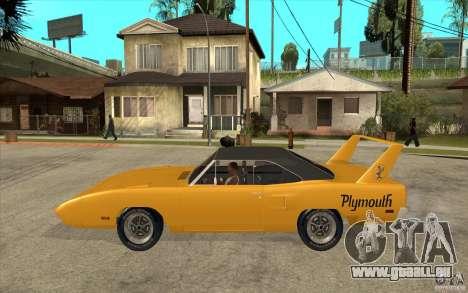 Plymouth Roadrunner Superbird Custom pour GTA San Andreas laissé vue