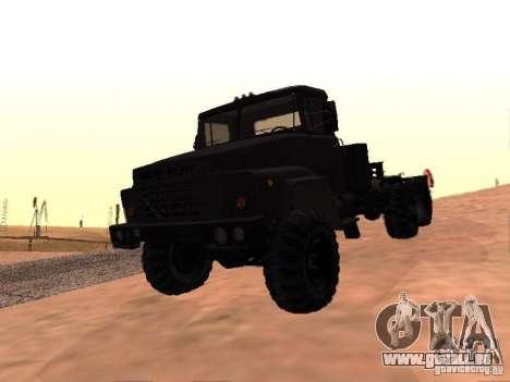 KrAZ 260V pour GTA San Andreas vue de dessus