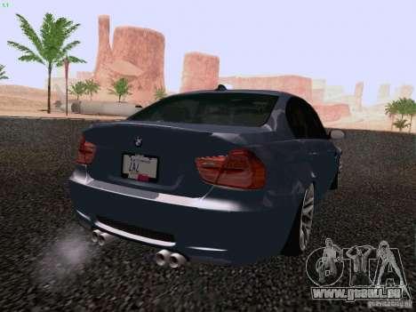 BMW M3 E90 Sedan 2009 pour GTA San Andreas laissé vue