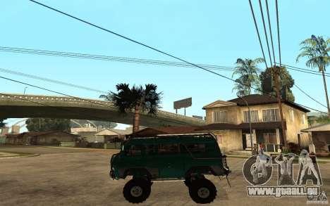 Pain UAZ dur hors route pour GTA San Andreas laissé vue