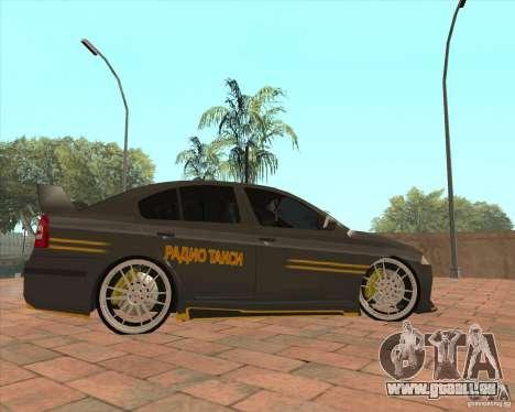 Skoda Octavia Taxi pour GTA San Andreas laissé vue