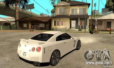 Nissan GT-R R35 2008 pour GTA San Andreas vue de droite