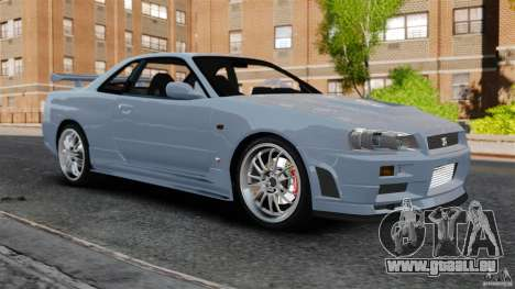 Nissan Skyline GT-R R34 Fast and Furious 4 pour GTA 4