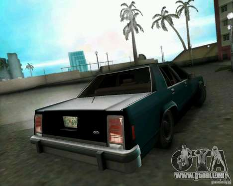 Ford Crown Victora LTD 1985 für GTA Vice City zurück linke Ansicht