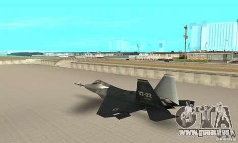 YF-22 Standart pour GTA San Andreas sur la vue arrière gauche