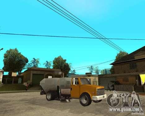 Camion de nettoyage pour GTA San Andreas vue de droite