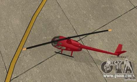 Robinson R44 Raven II NC 1.0 1 de la peau pour GTA San Andreas vue intérieure