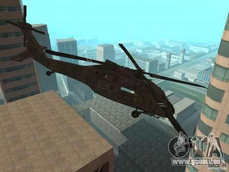 UH-60 Black Hawk pour GTA San Andreas sur la vue arrière gauche