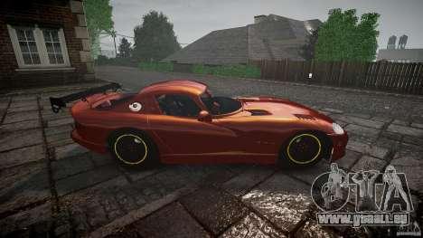 Dodge Viper 1996 für GTA 4 Innenansicht