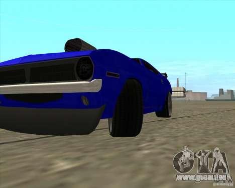 Plymouth Hemi Cuda de NFS Carbon pour GTA San Andreas vue arrière