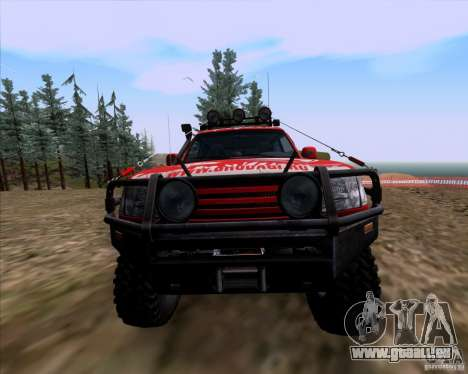 Toyota Land Cruiser 100 Off-Road für GTA San Andreas Innenansicht