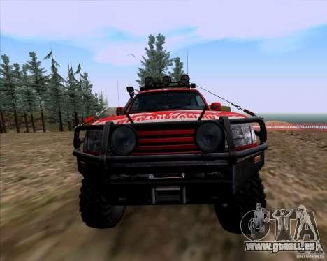 Toyota Land Cruiser 100 Off-Road pour GTA San Andreas vue intérieure