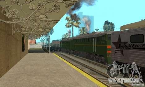 Locomotive 2te116 pour GTA San Andreas laissé vue