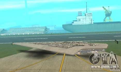 Executor Class Stardestroyer für GTA San Andreas zurück linke Ansicht