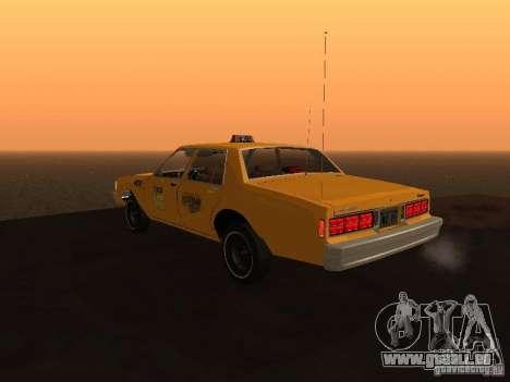 Chevrolet Caprice 1986 Taxi pour GTA San Andreas laissé vue