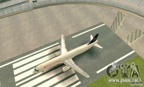 Airbus A321 Air Canada für GTA San Andreas linke Ansicht