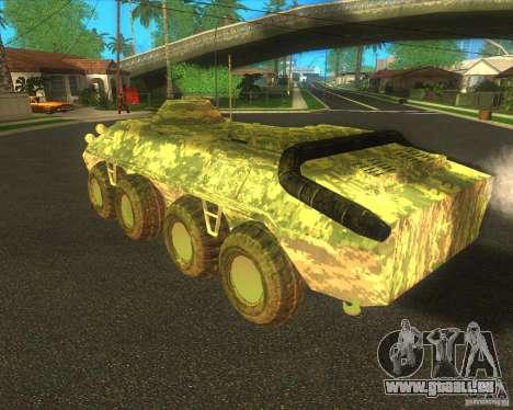 BTR-80 électronique camouflage pour GTA San Andreas vue de droite