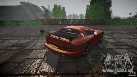 Dodge Viper 1996 für GTA 4 Seitenansicht