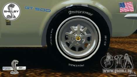 Shelby GT 500 pour GTA 4 vue de dessus