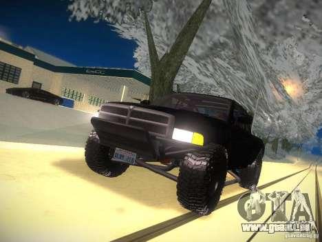 Dodge Ram Prerunner pour GTA San Andreas vue de dessus
