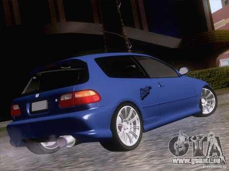 Honda Civic IV GTI pour GTA San Andreas laissé vue