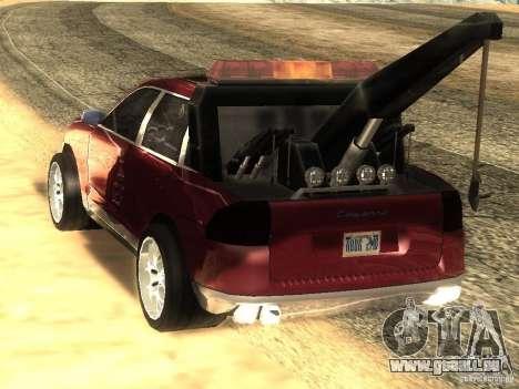 Porsche Cayenne Towtruck pour GTA San Andreas laissé vue