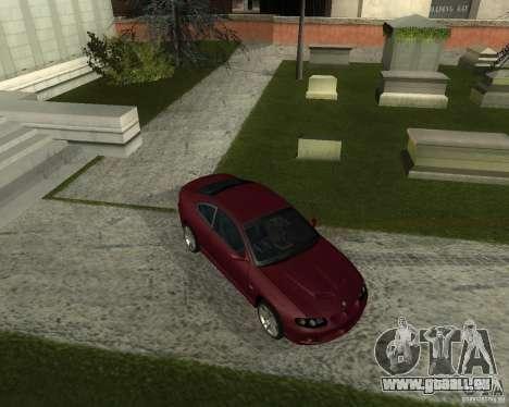 Vauxhall Monaro pour GTA San Andreas laissé vue