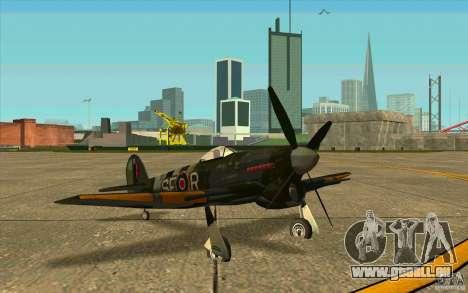 Hawker Typhoon pour GTA San Andreas laissé vue