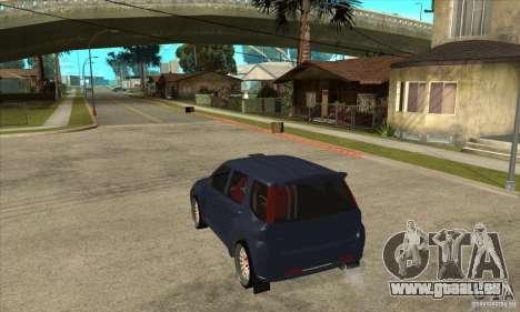 Suzuki Ignis Rally pour GTA San Andreas sur la vue arrière gauche