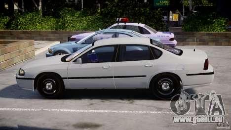 Chevrolet Impala Unmarked Police 2003 v1.0 [ELS] pour GTA 4 est une vue de l'intérieur