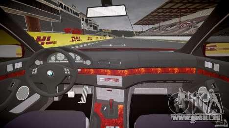 BMW 530I E39 stock chrome wheels pour GTA 4 vue de dessus