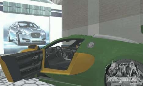 Bugatti Veyron 2005 pour GTA San Andreas vue arrière