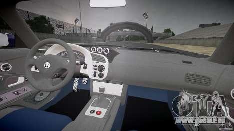 Honda S2000 Tuning 2002 2 calme la peau pour GTA 4 Vue arrière