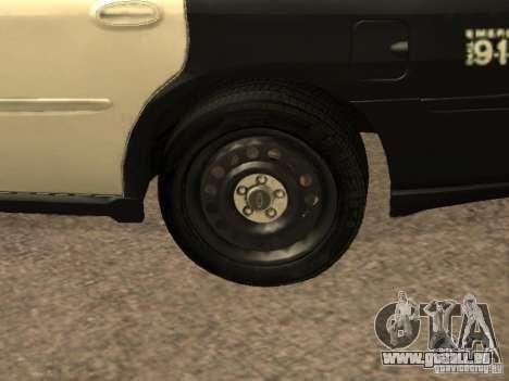 Chevrolet Impala Police 2003 pour GTA San Andreas vue intérieure