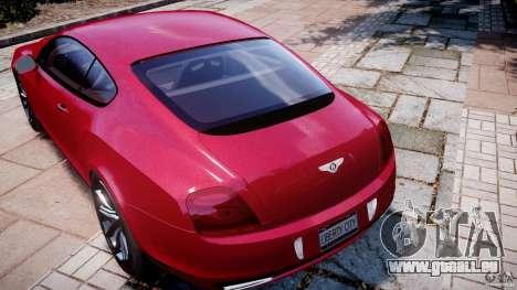 Bentley Continental SS v2.1 pour GTA 4 est une vue de dessous