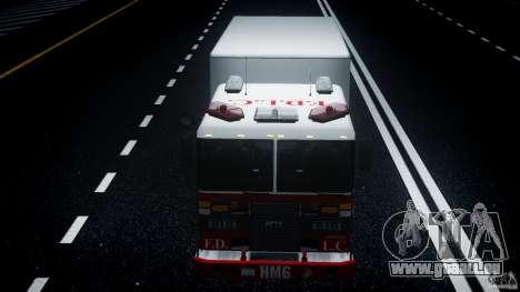 LCFD Hazmat Truck v1.3 pour GTA 4 vue de dessus