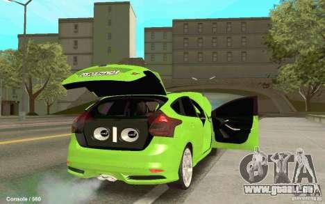 Ford Focus pour GTA San Andreas laissé vue