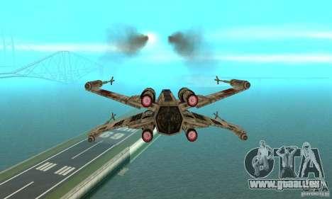 X-WING de Star Wars v1 pour GTA San Andreas sur la vue arrière gauche