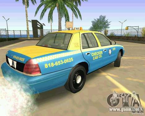 Ford Crown Victoria 2003 Taxi Cab für GTA San Andreas linke Ansicht