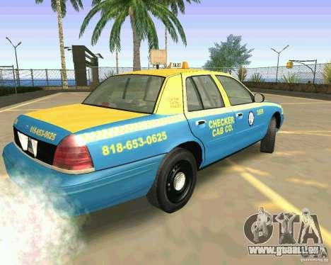 Ford Crown Victoria 2003 Taxi Cab pour GTA San Andreas laissé vue