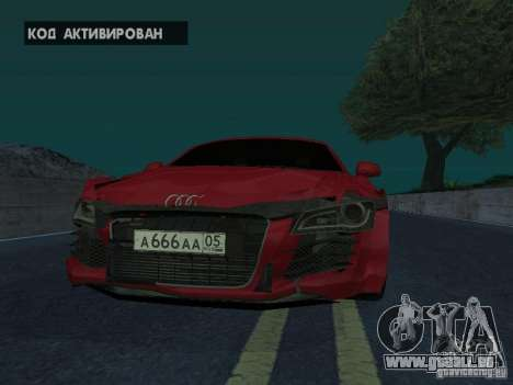 Audi R8 für GTA San Andreas rechten Ansicht