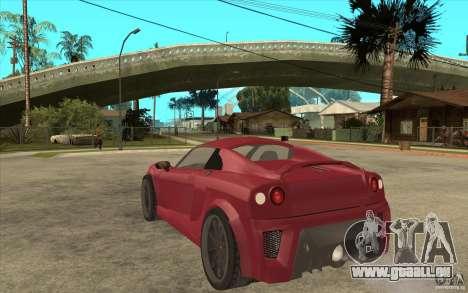 Mastretta MXT pour GTA San Andreas sur la vue arrière gauche