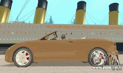Chrysler Cabrio pour GTA San Andreas sur la vue arrière gauche