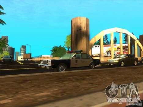 Dodge Diplomat 1985 LAPD Police pour GTA San Andreas vue de droite