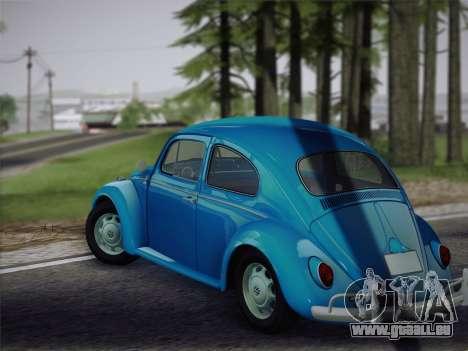 Volkswagen Beetle 1967 V.1 für GTA San Andreas rechten Ansicht