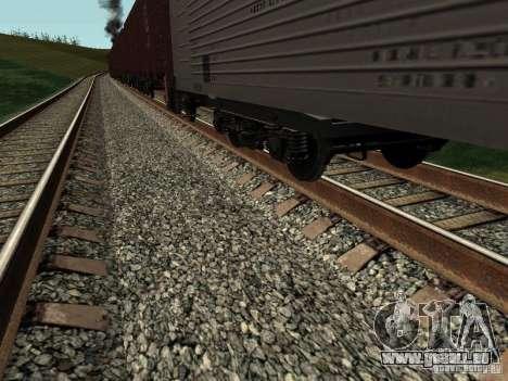 Société cargo wagon ouvert pour GTA San Andreas sur la vue arrière gauche